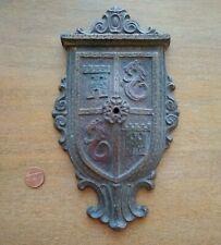 Antique Fireplace Mantle Plaque Decor Universal Electric Log Co Gothic Dragons