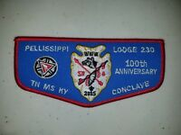Boy Scout OA 230 Pellissippi Lodge 2015 100th Anniversary SR6 Conclave Flap Yel