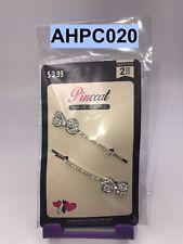 PINCCAT HAIR GEMS STONE BOBBY PINS 2 - COUNT CLIPS BARRETTES  # AHPC020