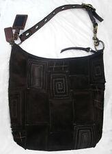 Coach Suede Leather Mosaic Patchwork Duffle 10409 Large Shoulder Bag