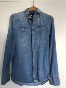 Men's G Star denim shirt slim fit size S