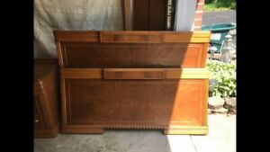 Restored Art Deco Full Bedroom Set - Excellent condition, Original Receipt