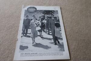 Vintage Tatler May 1949 Princess Margaret Cover