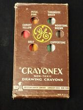 Vintage CRAYONEX Drawing Crayons Advertising for GENERAL ELECTRIC GE in Box