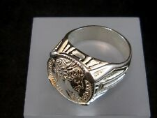 CHOICE ROMAN STYLE STERLING SILVER RING, HADRIAN COIN!!!