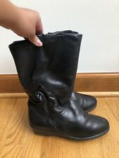 Luftpolster Sohle Boots Black Leather Made in Germany Women's Size 7.5
