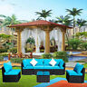 2/5/7Pcs Rattan Wicker Sofa Set Sectional Couch Cushion Patio Furniture Outdoor