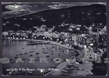 LA SPEZIA LERICI 68 NOTTURNO Cartolina viaggiata 1957