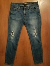 Lucky Brand BROOKE Skinny Jeans size 8/29 x 29 Destroyed Holes Stretch