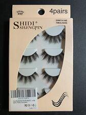 ShidiShangpin Fake Eyelashes Handmade G107 (4) Pairs Tweezers Long Thick