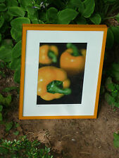 Peppers signed art photograph by Deborah Gilbert - close up of orange peppers