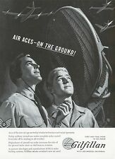 1951 Gilfillan Radar Ad Military Ground Operator Airplanes Aviation