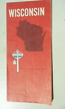 1970 Wisconsin road map Standard oil gas directory