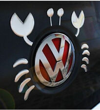 Silver Cute Crab / Lobster 3D Car Sticker Decal Fun  Art - Fits Around Logo
