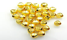 100 Gold Plated Groovie Bicone Beads 5MM
