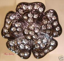 GUESS Jeans Rhinestone Flower  Rings   Big  Ring  Charms NWT Sz 7