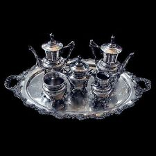 American Eastlake 6-Piece Silverplated Tea Set c. 1885 #5809