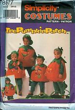 Simplicity 8577 Pumpkin Patch Kids Costume Pattern UNCUT FF S M L face transfer