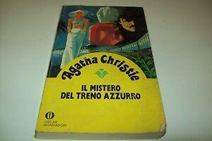 AGATHA CHRISTIE MISTERO DEL TRENO AZZURRO OSCAR GIALLI 65 MONDADORI 1980 bello!!