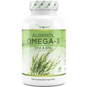Algenöl Omega 3 90 Kapseln Vegan + Hochdosiert - 675 mg DHA & 240 mg EPA am Tag