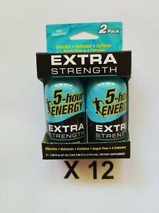 (24 Pack) 5 Hour Energy Extra Strength Blue Raspberry 1.93 fl oz, exp 03/2023