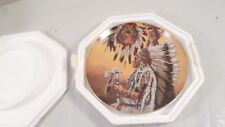 Vtg Franklin Mint Chief Wolf Plume American Indian Heritage Collector Plate