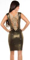 KouCla Partykleid Rückenfrei Stickerei Einheitsgröße 34 36 38 Abendkleid