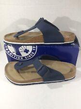 BIRKENSTOCK Mens Medina Blue Birko Flor Slide Sandal Shoes Sz 11 EU44 ZB5-2494
