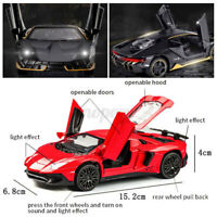 1:32 LP770-4 Diecast SUV Car Model Toy Alloy Pull Back Sound & Light Kids Gift