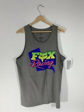 Fox Racing Qualifier Premium Tank Top Size: LARGE NWT Gray Motocross