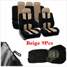 Beige Car Seat Covers Protectors Universal Washable Dog Pet Full Set Front+Rear