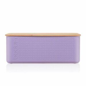 Bodum Bread Bin Large, Pastel Purple Bread Board Kitchen Storage Accessories
