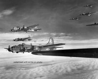 Boeing B-17G Flying Fortress Bombers on way to Germany 8x10 WW2 WWII Photo 378