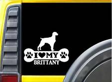 "Brittany Spaniel Bone L048 8"" sticker dog decal"