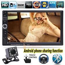 """7"""" 2 din coche Bluetooth pantalla táctil reproductor de MP5 estéreo con cámara"""