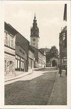 Leitmeritz, Böhmen, Straßenpartie mit Kirche, alte Ansichtskarte um 1930