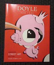 2012 DOYLE NY Inaugural Street Art Auction Catalog VF+ 56 Full Color Pages