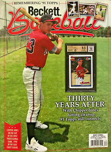 New March 2021 Beckett Baseball Card Price Guide Magazine With Chipper Jones