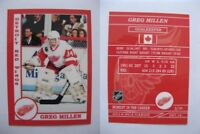 2015 SCA Greg Millen rare Detroit Red Wings goalie never issued produced #d/10