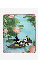Disney Mickey & Minnie Lily Pond Throw Blanket- Exclusive