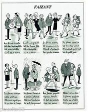 "PUBLICITE ADVERTISING 115  1963  DESSIN JACQUES FAIZANT  "" LA FEMME"""
