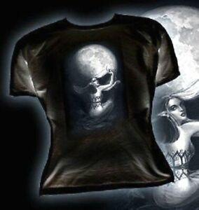 Alchemy cráneo y huesos cruzados Camiseta para mujer