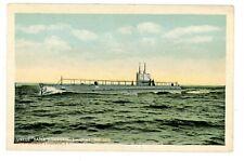 Military/Navy -LARGEST SUBMARINE M-1 AT SEA- c1920s Postcard USS