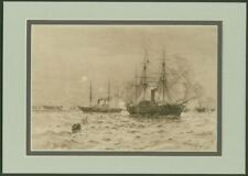 """""""the Bombardment of Sveaborg by the Baltic Fleet"""" - Fabulous 110 Year Old Print"""