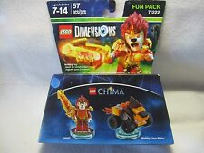 Lego Dimensions Chima Laval Mighty Lion Rider Fun Pack 71222 New