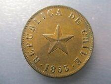 CHILE SANTIAGO 1 CENTAVO 1853