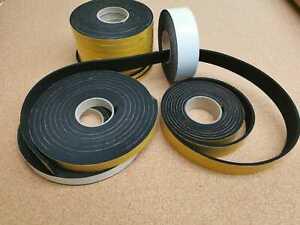 Neoprene Self Adhesive Backed Foam Sponge Strip Roll Sheet Tape Sticky Seal EPDM