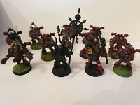 Warhammer 40k 11 Chaos Space Marines mit Standarte