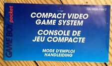 NOTICE SEULE CONSOLE NINTENDO GAMEBOY POCKET PAL FRA FAH BOOKLET ANLEITUNG GBA