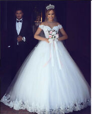 Sexy Sweetheart A-Line Wedding Dress Lace Organza Bridal Ball Gown Custom Made